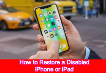 How to Restore a Disabled iPhone or iPad