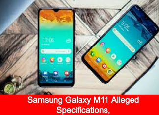 Samsung Galaxy M11 Alleged Specifications,